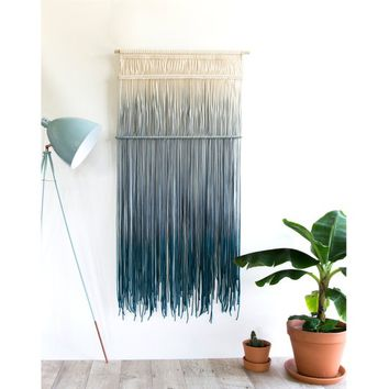 "Large Macrame Wall Hanging - Large Macrame Curtains - Macrame Wall Art - Boho Tapestry for Living room or bedroom - Home decor - ""CASCADE"""