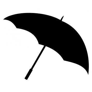 Black Umbrella Waterproof Temporary Tattoos Lasts 3 to 4 days Choose Small, Medium or Large Sizes