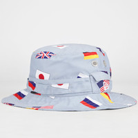 New Era Flags Mens Bucket Hat Grey  In Sizes Large For Men 23977111504