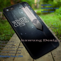 Stark Game of Thrones iPhone 6s 6 6s+ 5c 5s Cases Samsung Galaxy s5 s6 Edge+ NOTE 5 4 3 #movie #gameofthrones dt