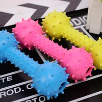 Dog Toys Resistant To Bite Bone Ball Play for Teeth Training Thermal PP Chew Toy for Dog Random Color