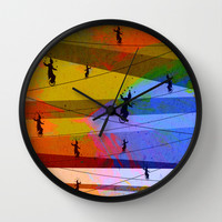 Tightrope Wall Clock by Tony Vazquez