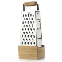 Bamboo Box Grater w/ Catch, Cooking Prep Tools