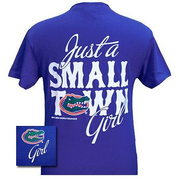 Sale Florida Gators Small Town Girl Girlie Bright T Shirt