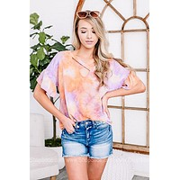 Groovy Memories Tie Dye Criss Cross Top