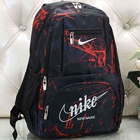 Nike Women Men Fashion Pattern Backpack Bag