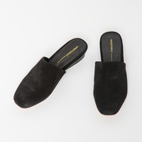 INTENTIONALLY BLANK | Touch Slide- Black Suede