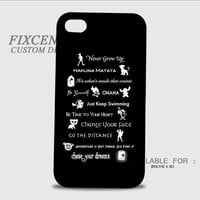 Disney Lessons Learned Mash Up Disney Quote 3D Cases for iPhone 4,4S, iPhone 5,5S, iPhone 5C, iPhone 6, iPhone 6 Plus, iPod 4, iPod 5, Samsung Galaxy Note 4, Galaxy S3, Galaxy S4, Galaxy S5, BlackBerry Z10 phone case design