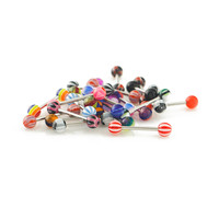 Assorted Surgiclal Steel Tongue Rings
