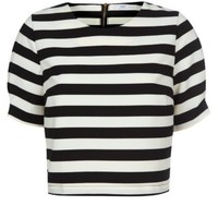 New Look Mobile | Black Stripe 3/4 Sleeve Shell Top