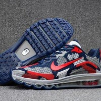 Reliable Nike Air Max 2017. 8 Kpu Camouflage Blue And Red Sneakers Unisex Running Shoe - Beauty Ticks