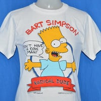 80s Bart Simpson Radical Dude t-shirt Extra-Small / Youth Large