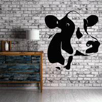 Homemade Meat Animal Cow Milk Farm Village Decor Wall Mural Vinyl Sticker (i011)