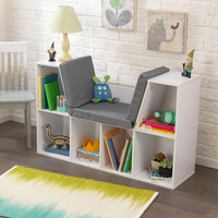 KidKraft Bookcase with Reading Nook - White - 14230