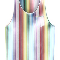 Villain Branden striped jersey vest