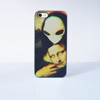 Alien  Mona Lisa  Plastic Case Cover for Apple iPhone 5s 5 4 4s 5c 6 6s Plus 7 7 Plus