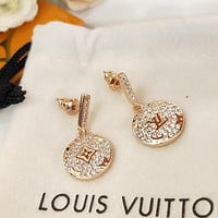 LV Louis Vuitton Classic Popular Pendant Earrings Accessories Jewelry