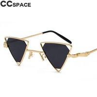 47712 Luxury Steam punk Sunglasses Men Women Shades CCSPACE Vintage Metal Frame Black Red Yellow Pink Sun Glasses Retro Shades