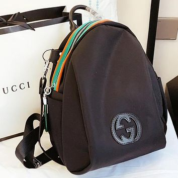 GUCCI Fashion New Canvas Backpack Bag Women Handbag Black