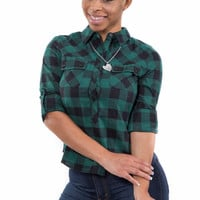 Ms Flannel Checkered Shirt (Green)