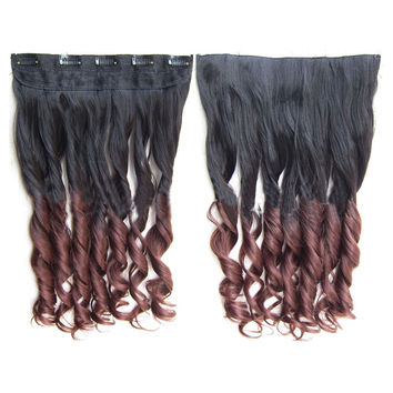 Gradient Ramp Hair Extension 5 Cards Wig     2T33