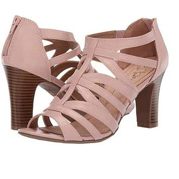 LifeStride Womens Carter Heels True Blush 8.5 Pink
