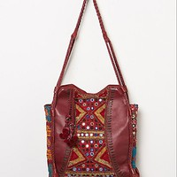 Free People Womens Tapestry & Tassel Tote