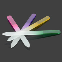 Crystal Float Glass Nail File Set - Green + Red + Purple + Yellow (4 PCS) = 1958220932