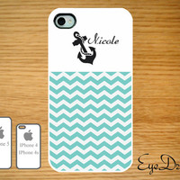 Iphone 5, 4s, and 4 Anchor Name with Chevron Case