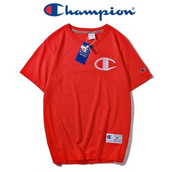 Champion classic round - collar grass embroidery logo for men and women lovers