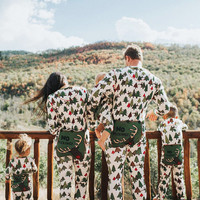 Christmas Family Matching Christmas Reindeer Trees Pajamas Romper Adults Baby Kids Sleepwear Nightwear Pjs Tracksuit Sleepsuit