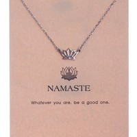 Shagwear Women's Lotus Pendant Namaste Necklace by Shagwear