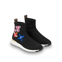 shosouvenir LV   BLACK HEART Sports boots