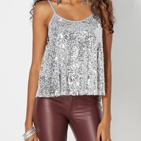 Gray Sequined Swing Tank | Going Out | rue21