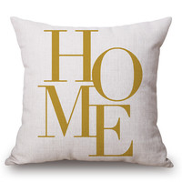 Nordic Style Letter Cushion Throw Pillow Soft I Love You Almofada Pineapple Decorations For Vintage Home Decor 45X45CM Hot d281