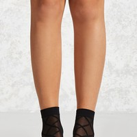 Sheer Lattice Crew Socks