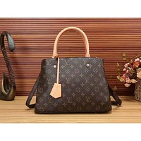 Louis Vuitton LV Women Fashion Leather Tote Handbag Satchel Crossbody