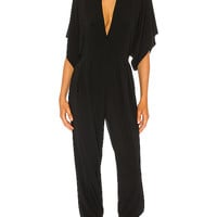 Norma Kamali KAMALIKULTURE Rectangle Jog Jumpsuit in Black | REVOLVE