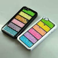 Bling Rainbow Element Crystal Phone Cover Case For iPhone