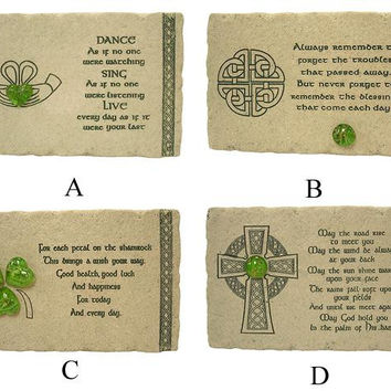 8 Table Top Decorations - Irish Blessing