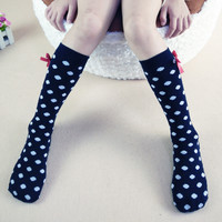 38CM Kids Leg Warmers Boys Girls Candy Color Dot Bow Children Knee High Socks Cotton Baby Socks Christmas Gifts 5pairs 3-10 Year