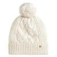 All That Glitters Sparkle Cable Beanie