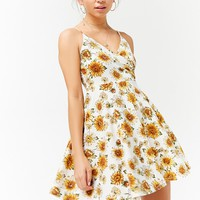 Sunflower Print Cami Dress