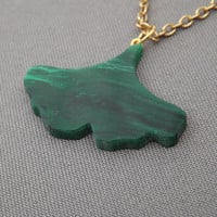 Hand Cut Ginkgo Leaf Necklace