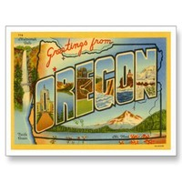 Greetings from OREGON OR Post Card from Zazzle.com