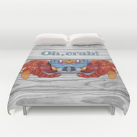 Oh, Crab! Duvet Cover by ArtLovePassion