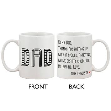 Father's Day Mug for Dad - From Your Favorite Child, Mug Gift for Father