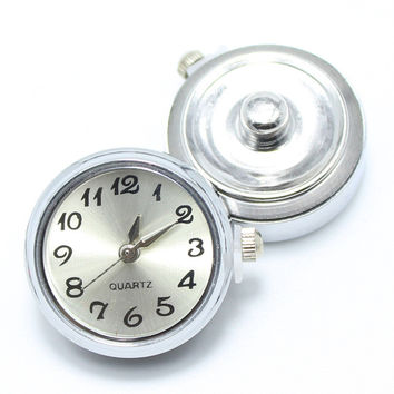 DIY watch snaps buttons Round DIY Alloy Ginger Snap Watch for snaps bracelets fit ginger snaps jewelry GS1113001