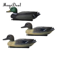 3 Pieces Floating Duck Decoy Drake Hunting Bait Lawn Ornaments Garden Decors
