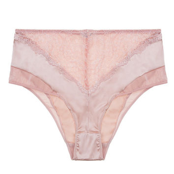Signature Giverny Silk & Lace High Waist Brief